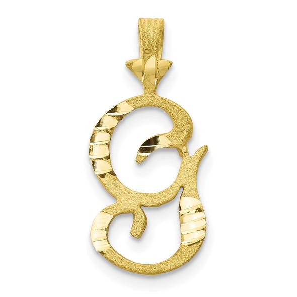 10k Yellow Gold Initial G Pendant 10C767G