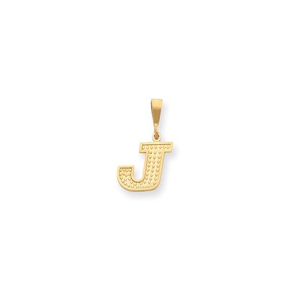 14k Yellow Gold Initial J Pendant C1449-J