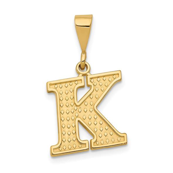 14k Yellow Gold Initial K Pendant C1449-K