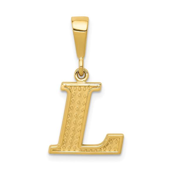 14k Yellow Gold Initial L Pendant C1449-L