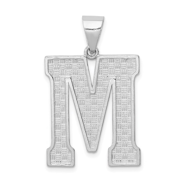 Sterling Silver Initial M Pendant QC2766M