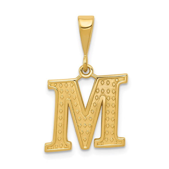 14k Yellow Gold Initial M Pendant C1449-M
