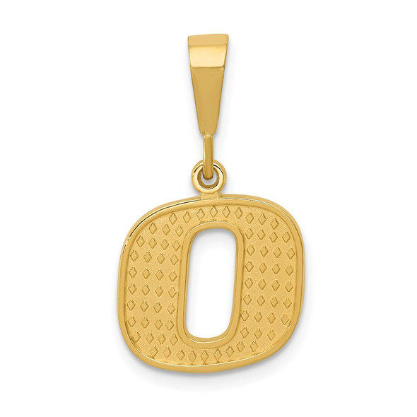 14k Yellow Gold Initial O Pendant C1449-O