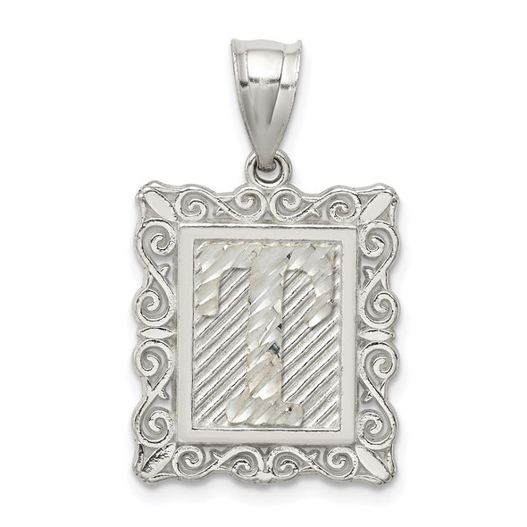 Sterling Silver Initial T Pendant QC2770T