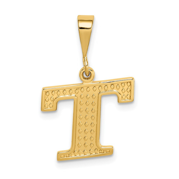 14k Yellow Gold Initial T Pendant C1449-T