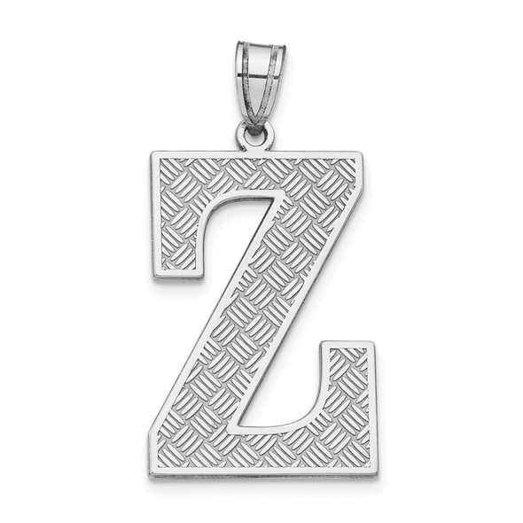 Sterling Silver Rhodium-plated Initial Z Pendant
