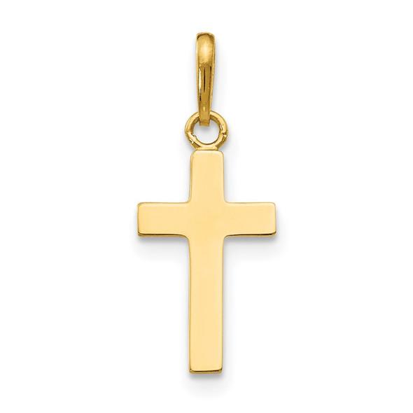 14k Yellow Gold Childrens Cross Pendant