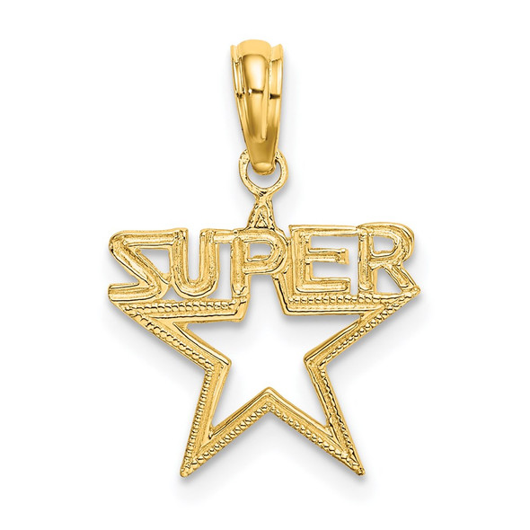 14k Yellow Gold Super Star Pendant