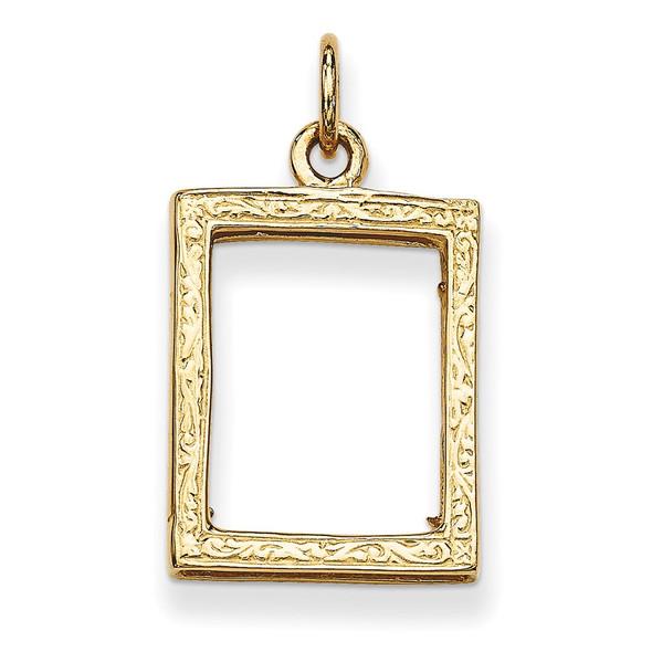 14k Yellow Gold Small Picture Frame Pendant