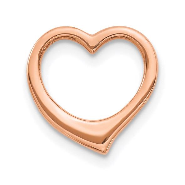 10k Rose Gold Polished Heart Slide 10C2917R