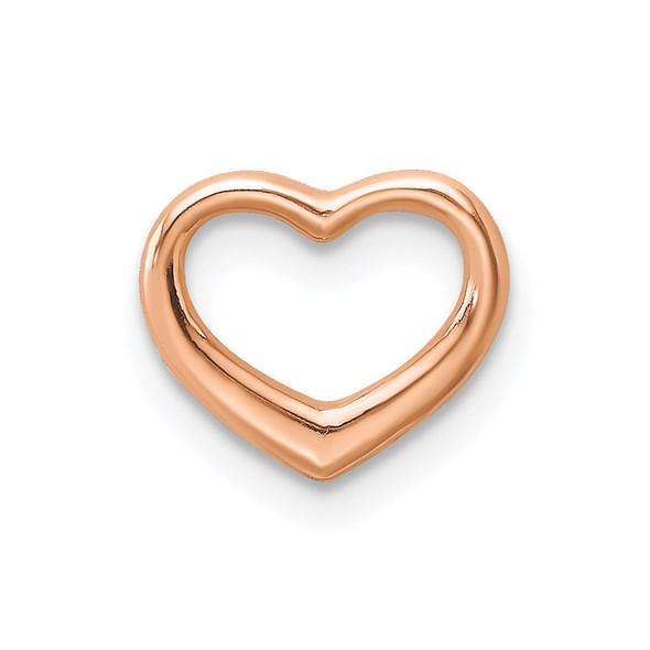 10k Rose Gold Polished Heart Slide 10k7108R