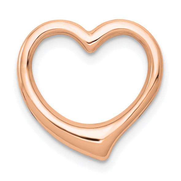 10k Rose Gold Polished Heart Slide 10C2918R