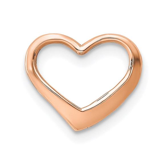 10k Rose Gold Polished Heart Slide 10k7119R