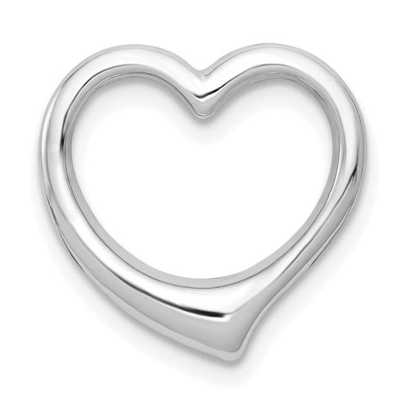 10k White Gold Polished Heart Slide 10C2918W