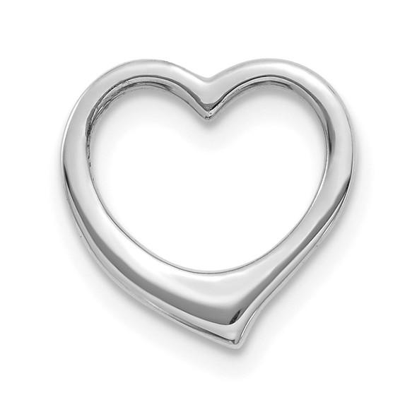 10k White Gold Polished Heart Slide 10C2917W