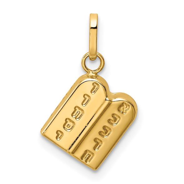 14k Yellow Gold The Ten Commandments Pendant