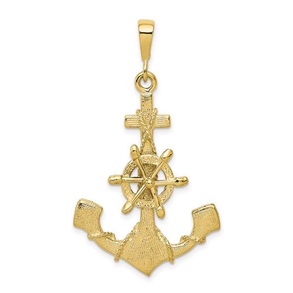 10k Yellow Gold Anchor Pendant