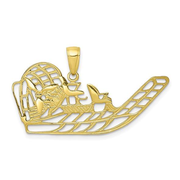 10k Yellow Gold Air Boat Pendant