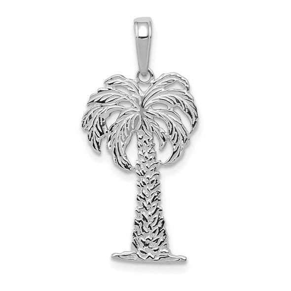 14k White Gold Palm Tree Pendant K2887W