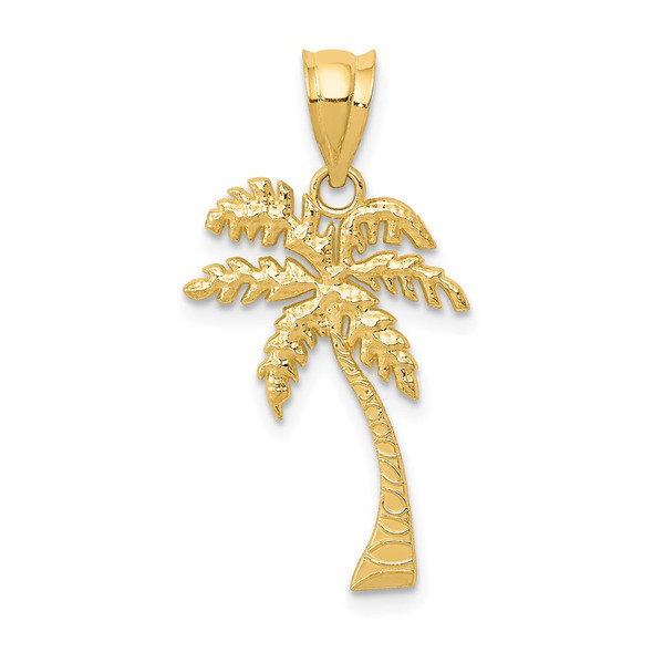 14k Yellow Gold Mini Palm Tree Pendant