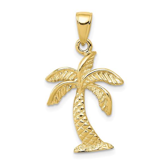 10k Yellow Gold Palm Tree Pendant