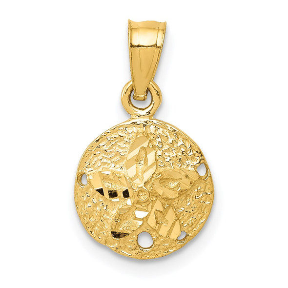14k Yellow Gold Sand Dollar Pendant K2933