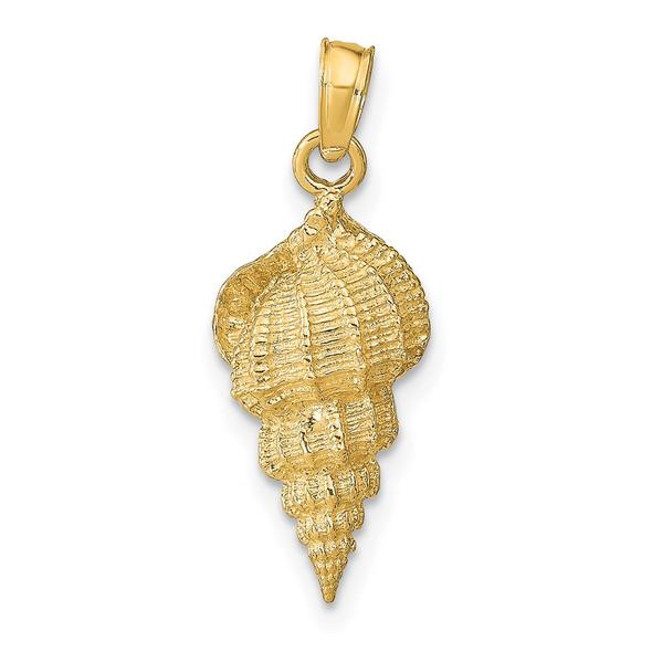 14k Yellow Gold Conch Shell Pendant C3370