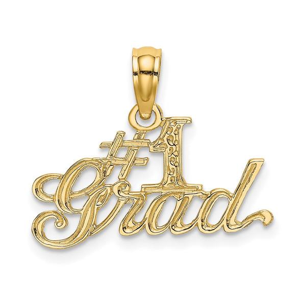 14k Yellow Gold #1 GRAD Pendant
