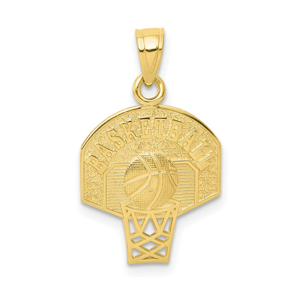 10k Yellow Gold Basketball Pendant 10C1031