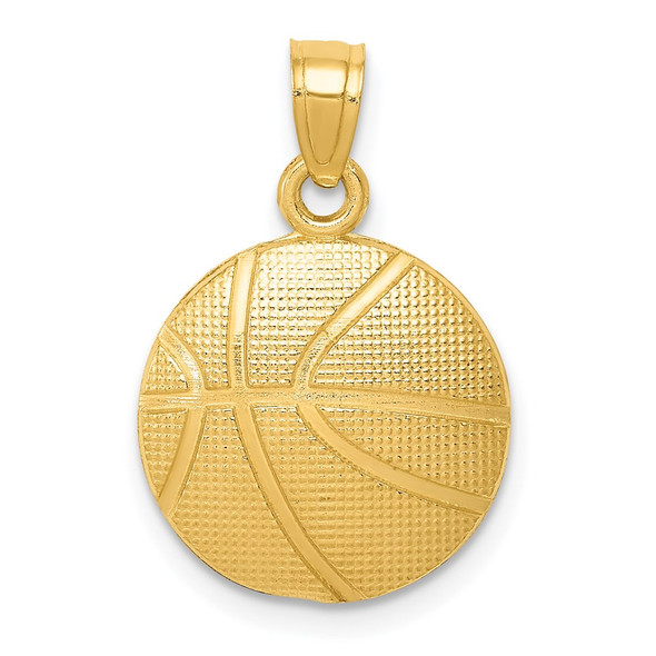 10k Yellow Gold Basketball Pendant 10C3774