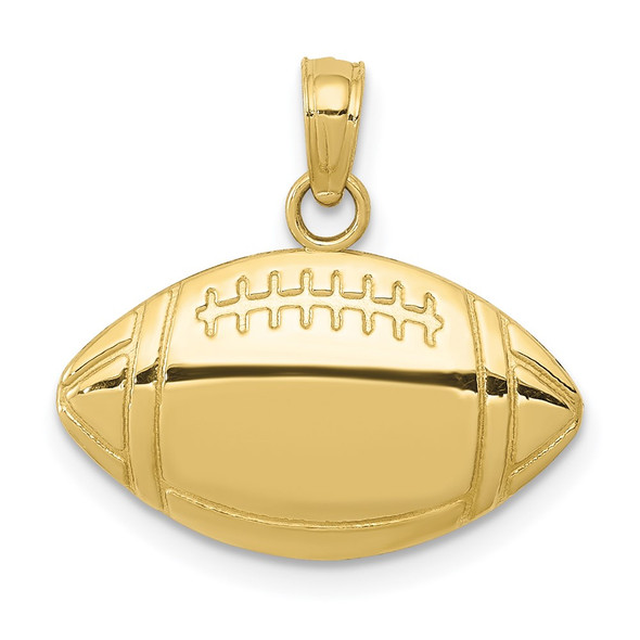 10k Yellow Gold Football Pendant