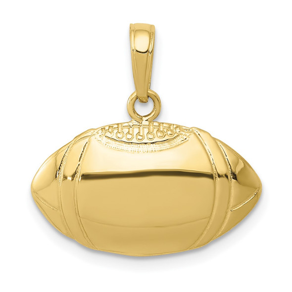 10k Yellow Gold Football Profile Pendant