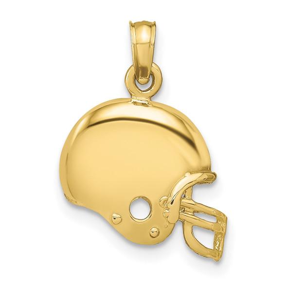 10k Yellow Gold Football Helmet Pendant 10k3604