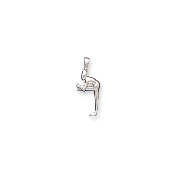 Sterling Silver Person Stretching Pendant QC5113