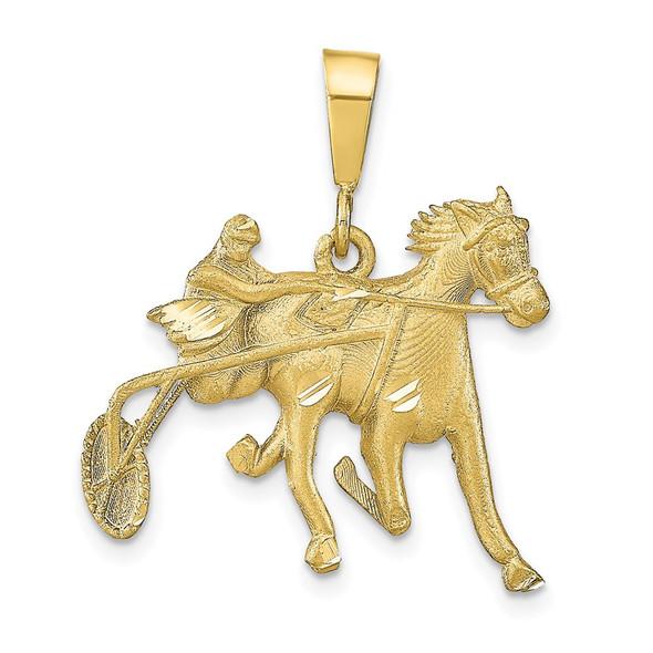 10k Yellow Gold Horse Racing Pendant