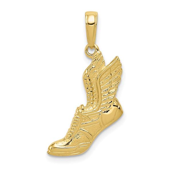 10k Yellow Gold Polished Running Shoe Pendant 10C2660
