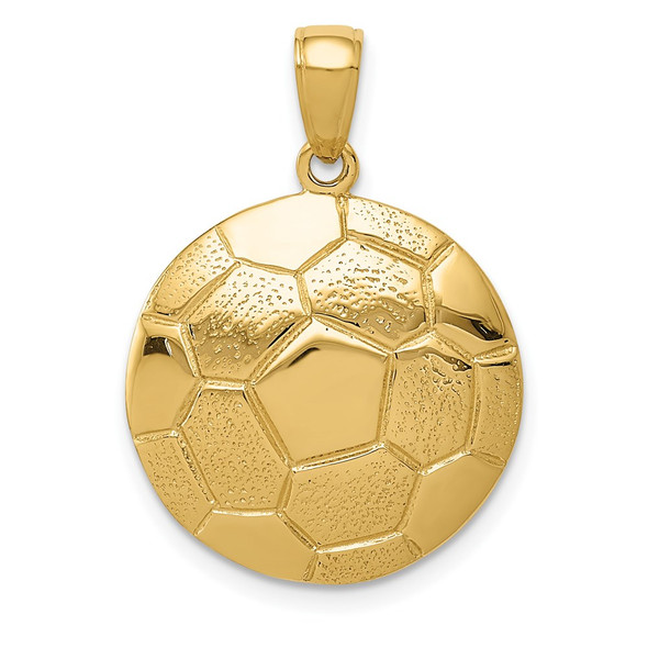 14k Yellow Gold Soccer Ball Pendant K3584