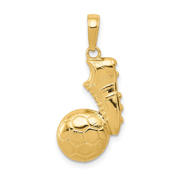 14k Yellow Gold Soccer Ball and Shoe Pendant