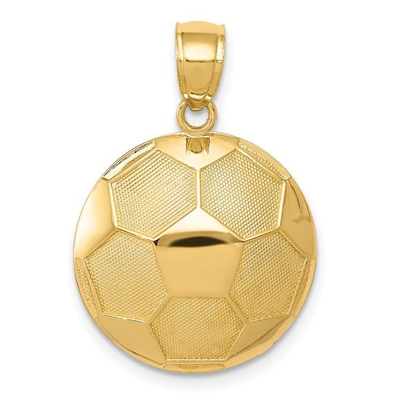 14k Yellow Gold Soccer Ball Pendant C3580