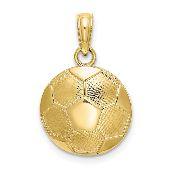 10k Yellow Gold Soccer Ball Pendant 10k5434