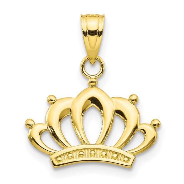 10k Yellow Gold Crown Pendant 10C989