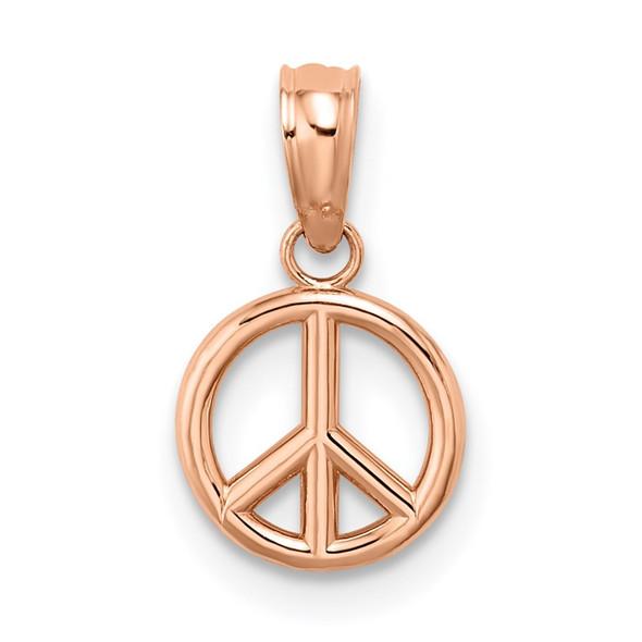 14k Rose Gold 3-D Peace Symbol Pendant K7357R
