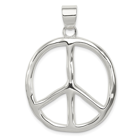Sterling Silver Polished Peace Pendant QP1826