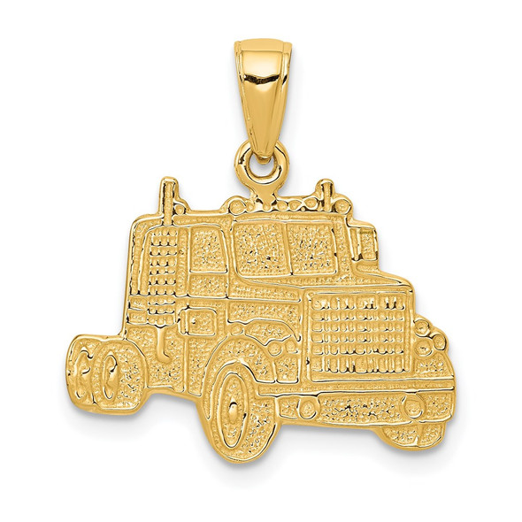 14k Yellow Gold Truck Cab Pendant