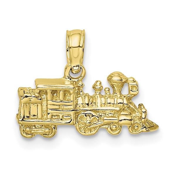 10k Yellow Gold 3-D Locomotive Pendant 10D1216