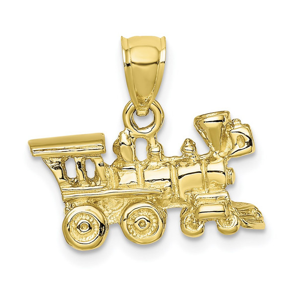 10k Yellow Gold 3-D Locomotive Pendant 10D3304