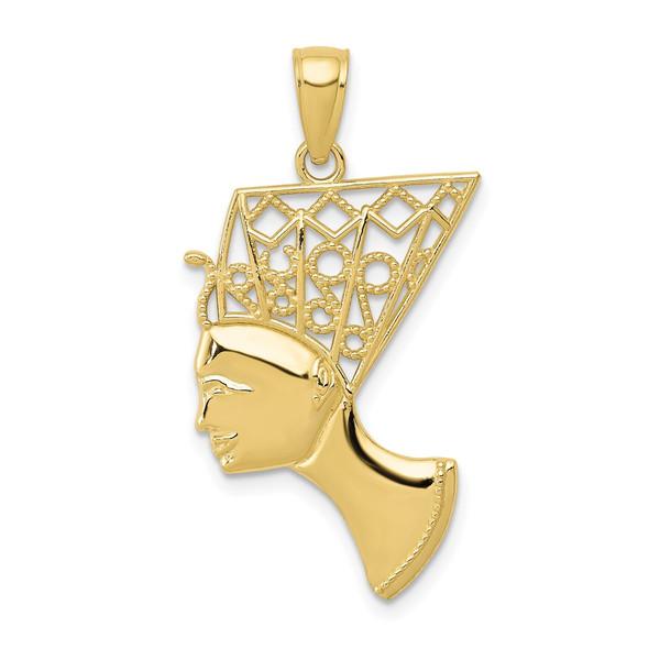 10k Yellow Gold Nefertiti Pendant