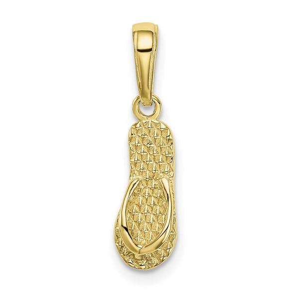 10k Yellow Gold 3-D Hawaii Flip-Flop Pendant