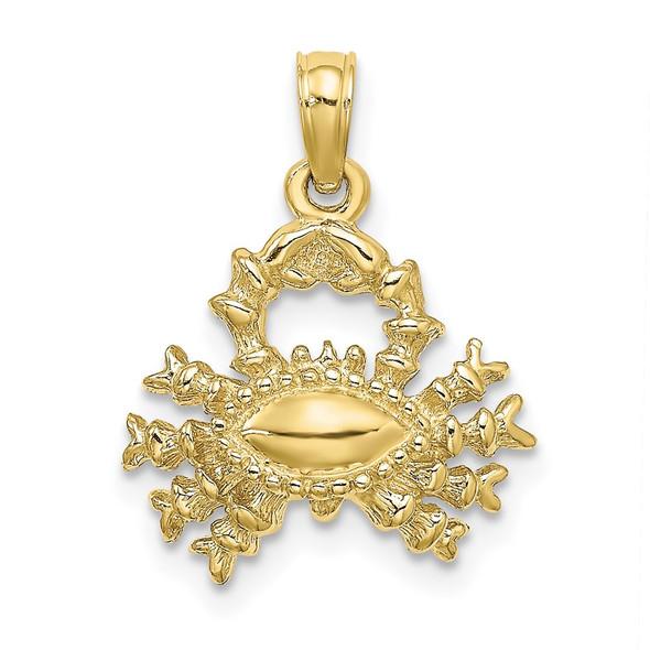 10k Yellow Gold 3-D Cancer Zodiac Pendant