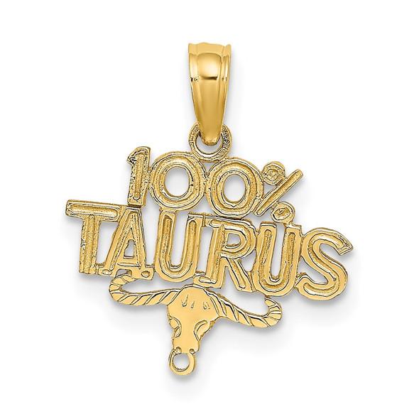 14k Yellow Gold 100% Taurus Pendant